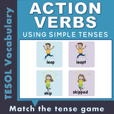 Present Tense and Past Tense Verbs Matching Game
