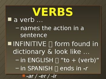 Present Tense (-er & -ir verbs)