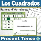 Spanish Present Tense Game and Worksheets Los Cuadrados
