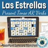 Present Tense: game (Las Estrellas), animated, interactive