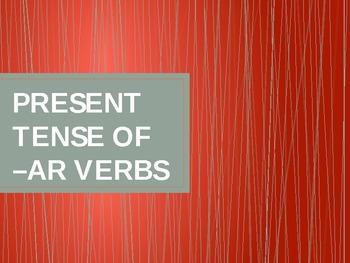 Present Tense of -ar Verbs in Spanish