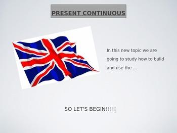Present continuous presentation