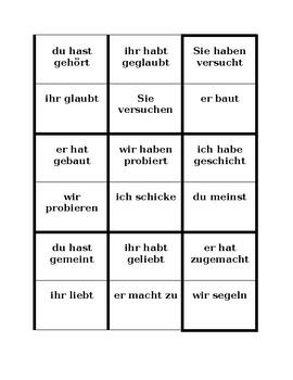 Perfekt in German Magic circle activity