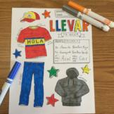 Present progressive Spanish verb Llevar color by conjugation no prep printable