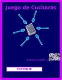 Present Progressive in Spanish Spoons Game / Uno Game