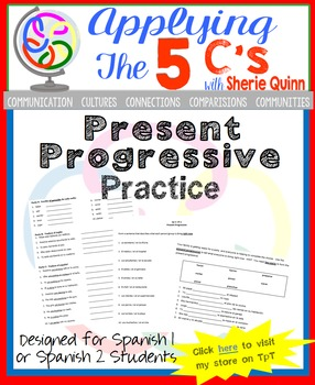 Present Progressive Practice For Spanish 1 Or Spanish 2 By Sherie Quinn