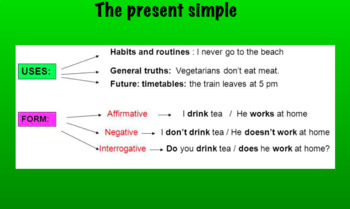 Present simple- presented simply