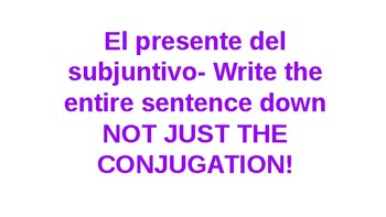Present subjunctive game with impersonal expressions: Hot potato