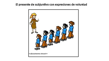 Present subjunctive with expressions of will