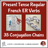 Present tense French ER Verbs - Primary French conjugation chains -Cut and paste