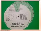 Present Tense Irregular Verbs Conjugation - Verb Wheels. P