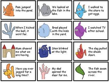 Present-tense and Past-tense Verb Sentences Sort