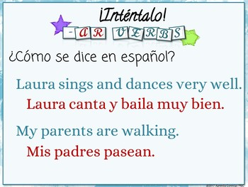 Present tense -ar verbs (Spanish)