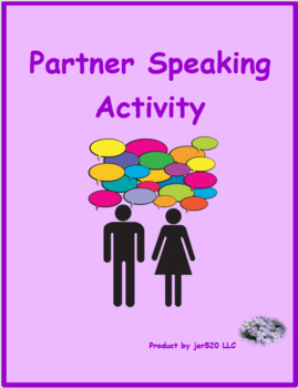 French Present tense Partner Speaking activity
