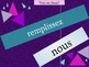 Present tense in French verb review game