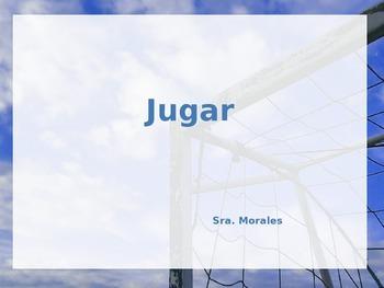 Present tense of the verb JUGAR