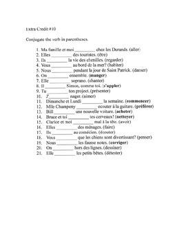 Present tense verb conjugation - 10 of 19