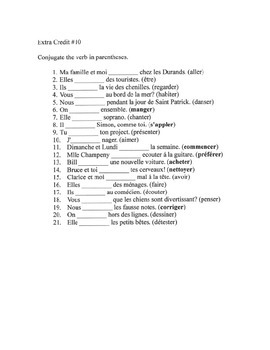 Present tense verb conjugation - 10 of 19