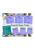 Present tense verb poster w/activity