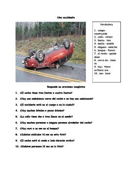 Present tense verbs: Answer questions and crossword puzzle