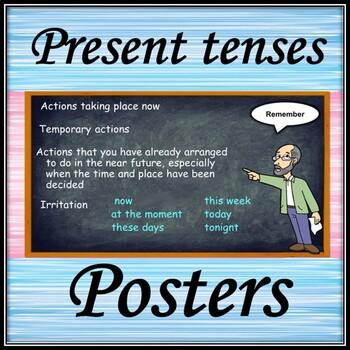 Present tenses. Posters.