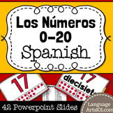 Present the numbers 1-20 in Spanish | Presentar los número