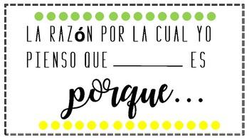 Presenta tu evidencia. Show your evidence in spanish