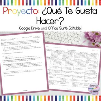 Presentación Oral: ¿Qué Te Gusta Hacer?  *FREEBIE*
