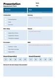 Presentation Assessment Form