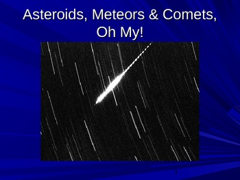 PowerPoint:  Asteroids, Meteors & Comets Oh My!