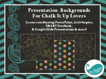 Presentation Backgrounds for Chalk It Up Lovers