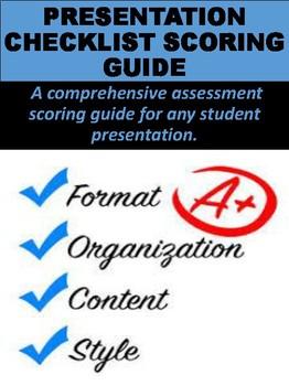 Presentation Checklist & Scoring Guide