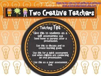 Presentation Checklist Teacher Resource