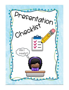 Presentation Checklist for Students