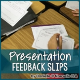 Presentation Feedback - Peer and Self Evaluation