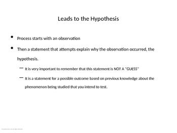 Presentation-Hypothesis Writing