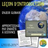 Présentation : Introduction aux Enjeux globaux