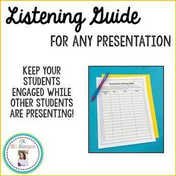 Presentation Listening Guide Freebie