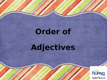 Presentation: Order of Adjectives