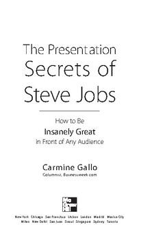 Presentation Secrets Of Steve Jobs