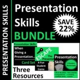 Presentation Skills Activities BUNDLE