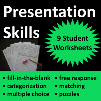 Presentation Skills Activities for School or Work