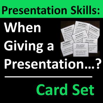 Presentation Skills Card Set Group Activity