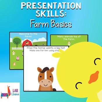Presentation Skills: Farm Animal Activity