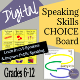 Speaking and Listening Choice Board to Teach Effective Pre