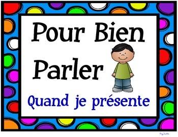 Presentation Skills Posters - Pour Bien Parler