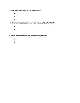 Presentation Skills - Questionnaire
