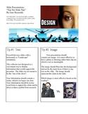Presentation Slide Tips