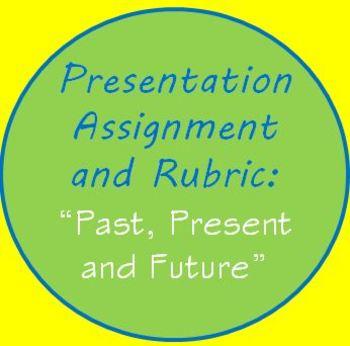 Presentation Speech Assignment & Rubric Your Past Present Future ESL Speaking