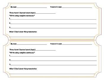 FREEBIE Peer Evaluation for Presentations